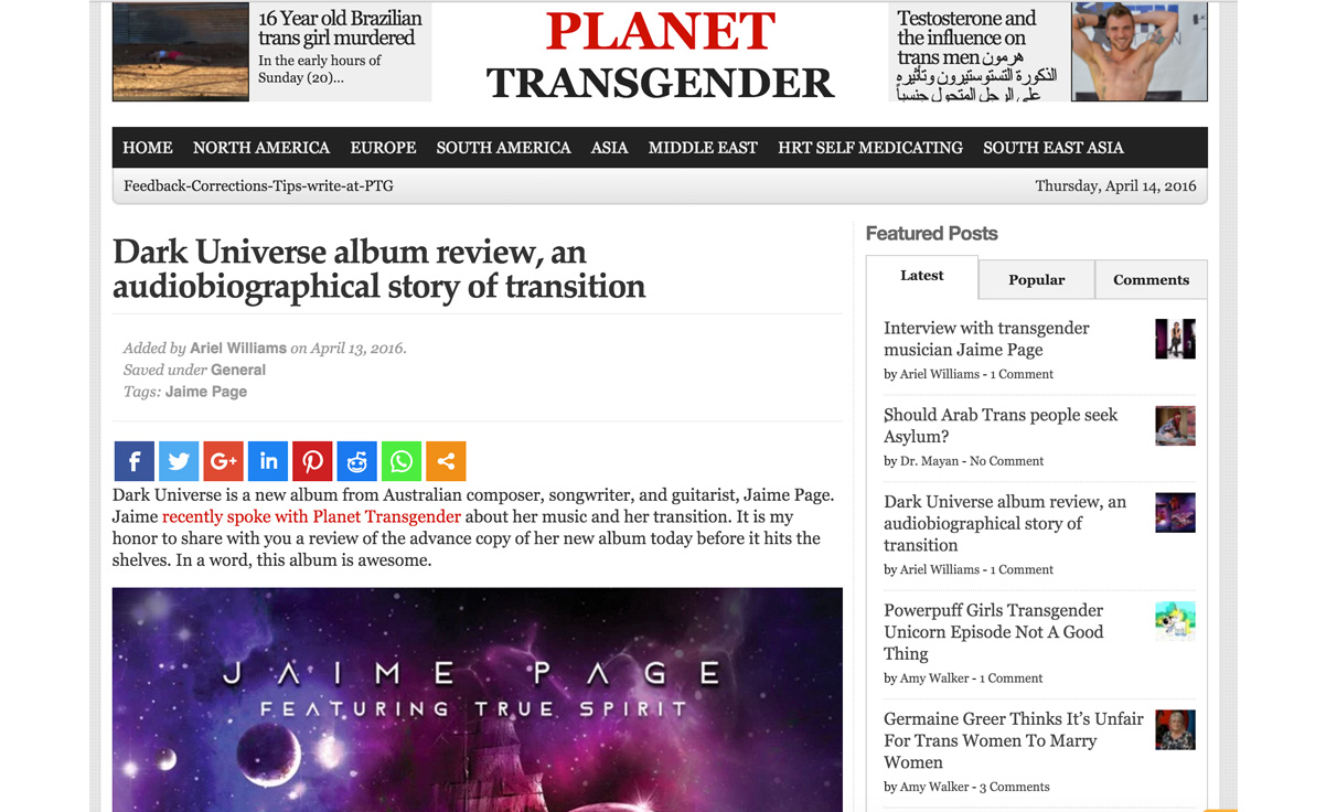 Planet Transgender Review